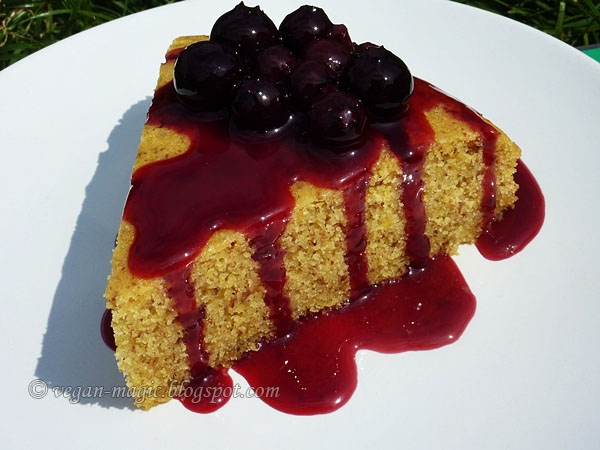 Blueberry Lemon Cornmeal Cake