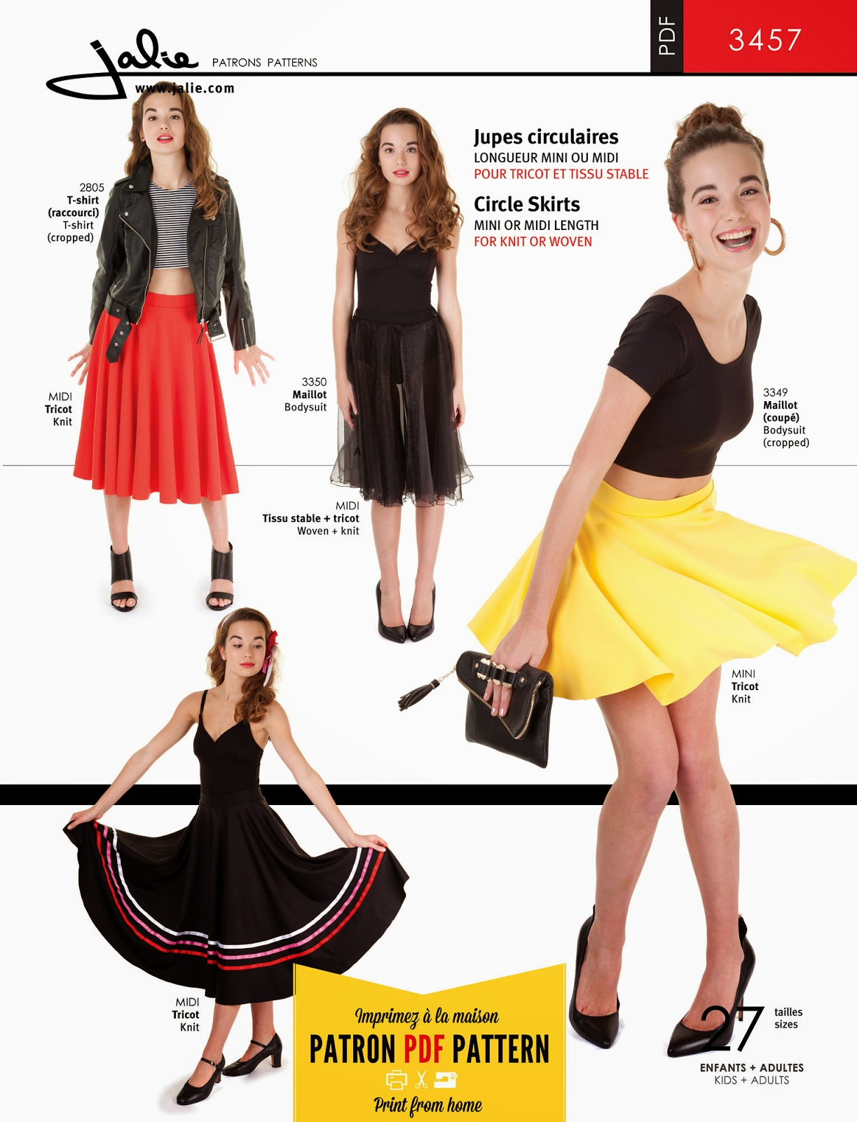 11 new patterns now available jalie 3457 circle skirts bankloansurffo Image collections