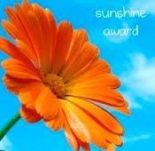 Recipient of the Sunshine blogging Award