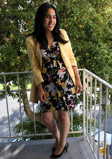 DVF Dress and Fendi Blazer