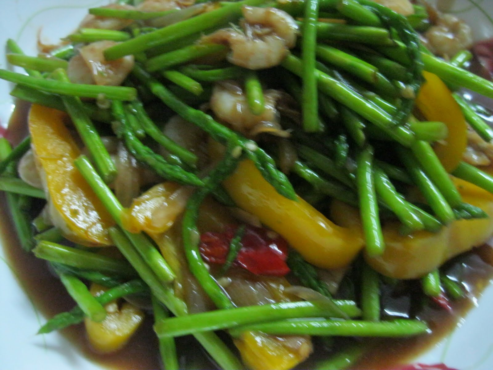 Asparagus Kerabu Recipe — Dishmaps