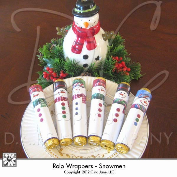 Best Seller - Snowman Rolo Wrappers