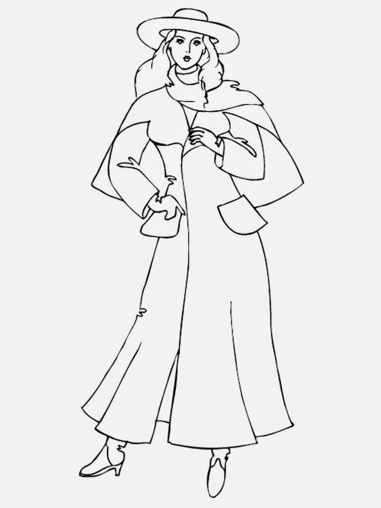 Model Coloring Page  Free Model Online Coloring