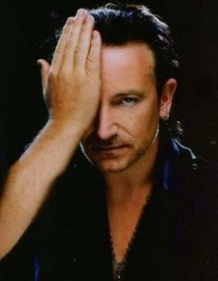 Bono with Illuminati hidden eye