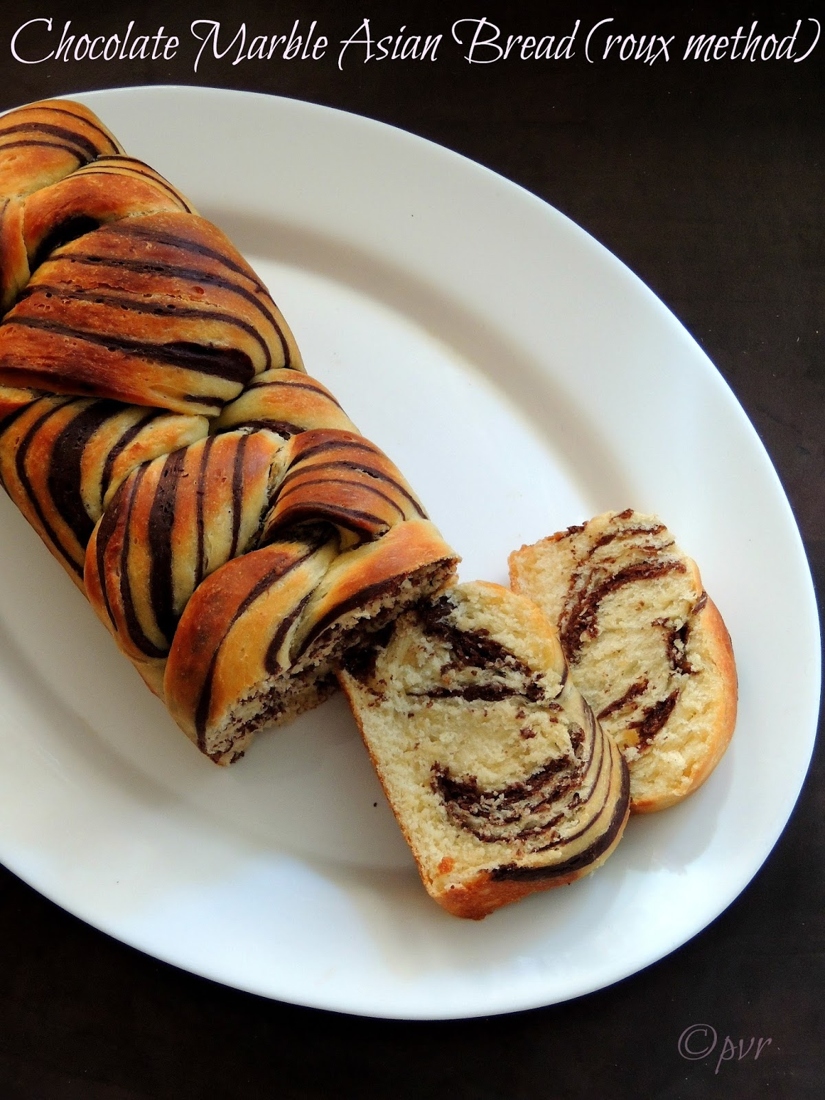 Chocolate Marble Asian Bread Roux Method Home Baker S