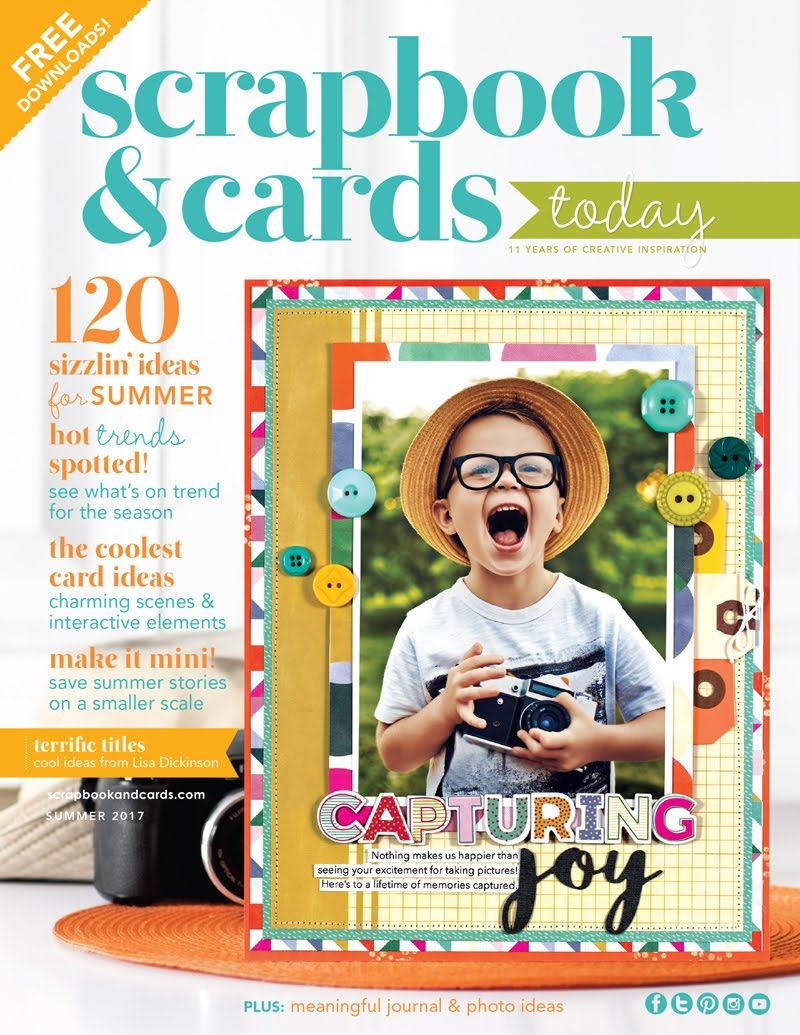 My Published Work - Scrapbook And Cards Today - Summer Issue 2017