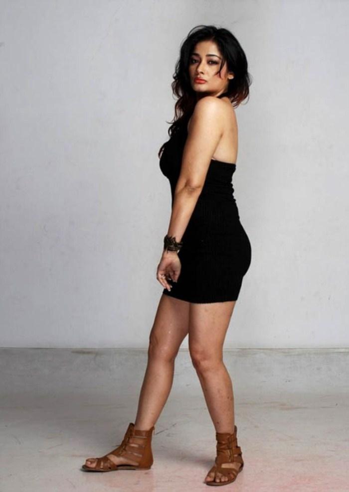 Kiran rathod spicy black dress hot navel stills ga…