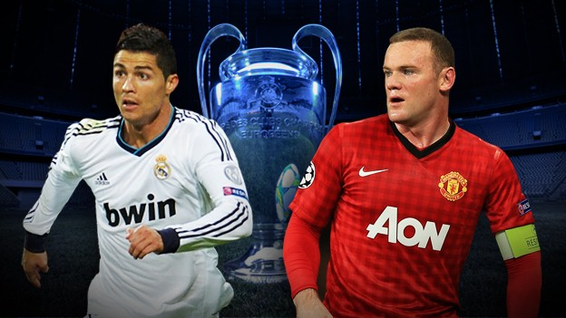 Real Madrid vs Man Utd Live Stream Champions League 2013