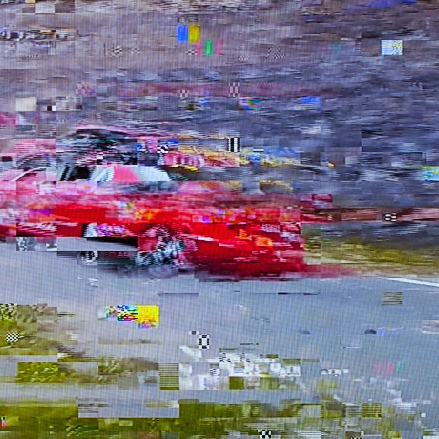 glitch, tim macauley, you won't see this at MoMA, le tour de france, 2014, abstract, abstraction, tv coverage, signal loss, noise to signal ratio, photographic art, graphic, digital, noise, signal
