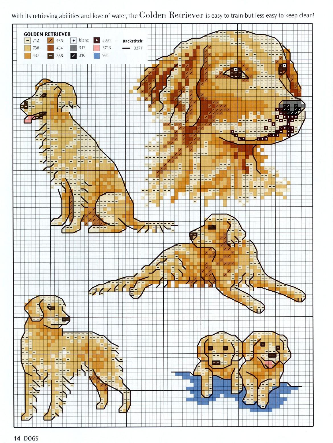 Вышивка собачки схемы