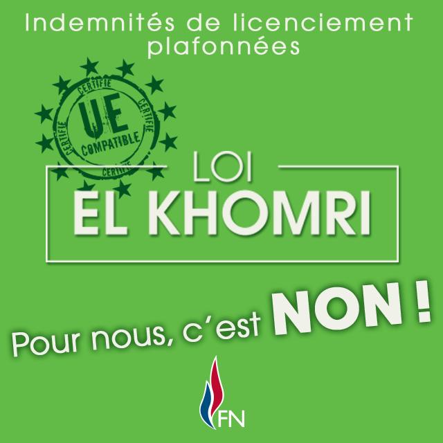 La loi El Khomri c'est non !