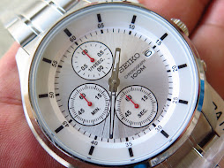 SEIKO CHRONOGRAPH QUARTZ WHITE DIAL - BRAND NEW WATCH