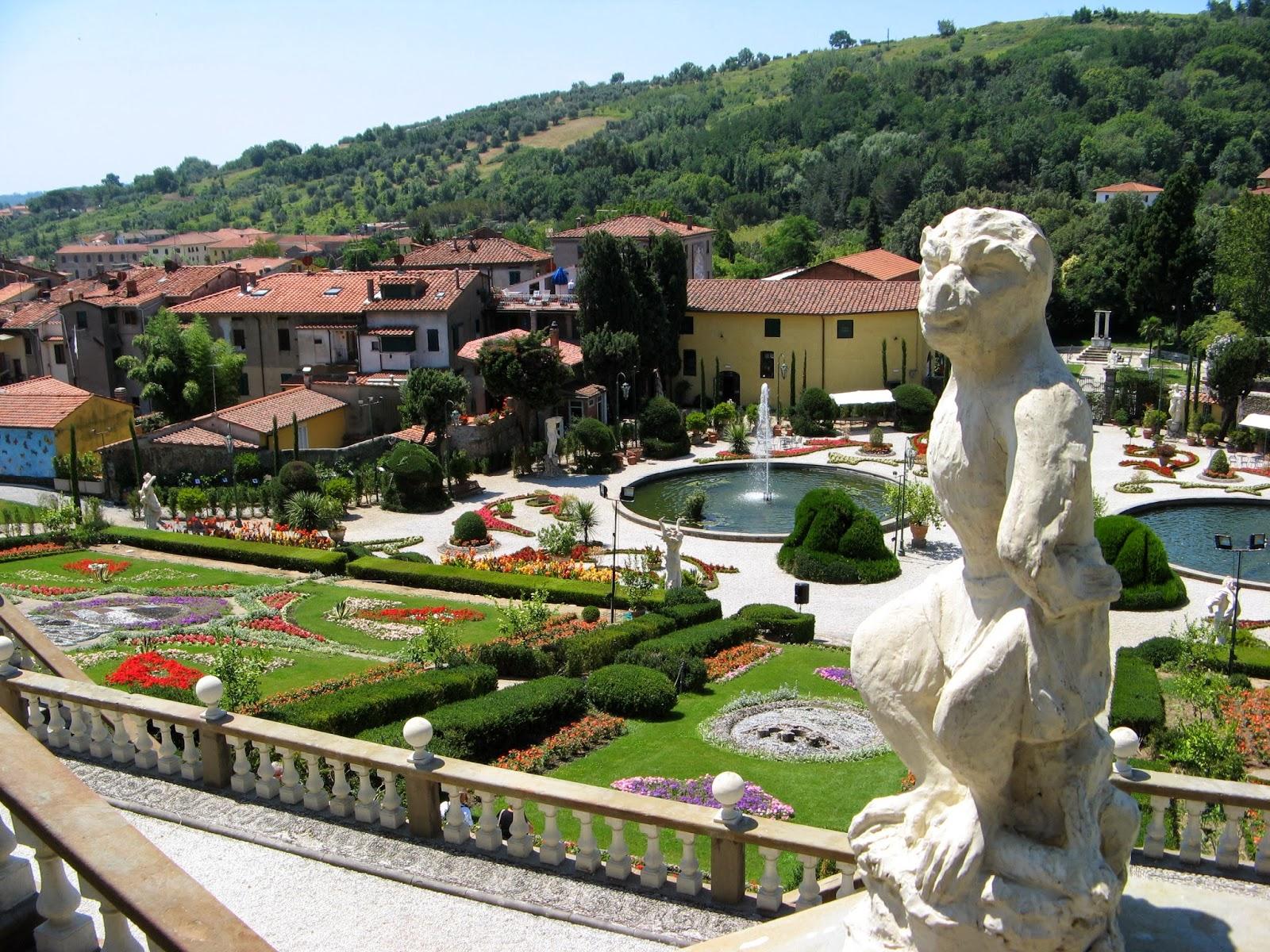 La villa de Collodi en la Toscana italiana