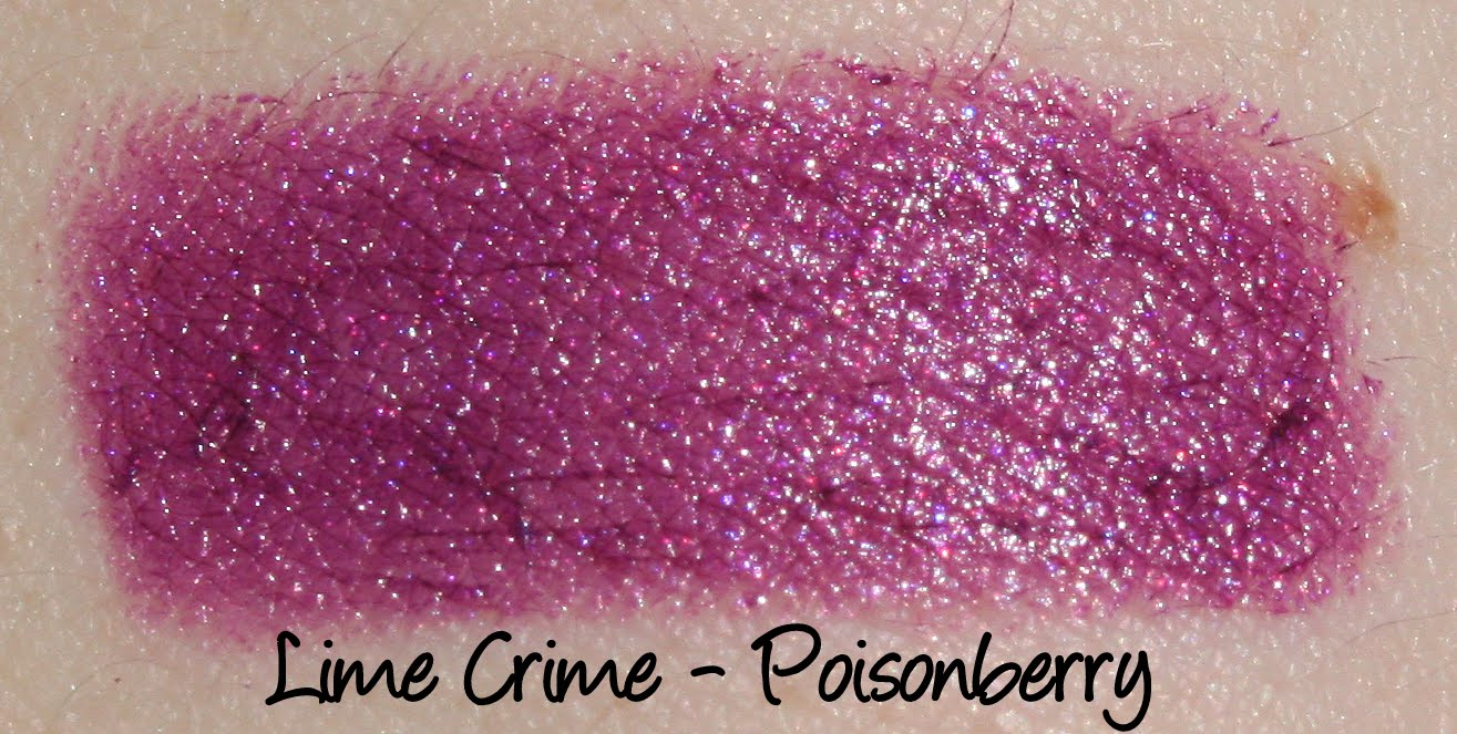 Lime Crime Poisonberry Lipstick Swatch