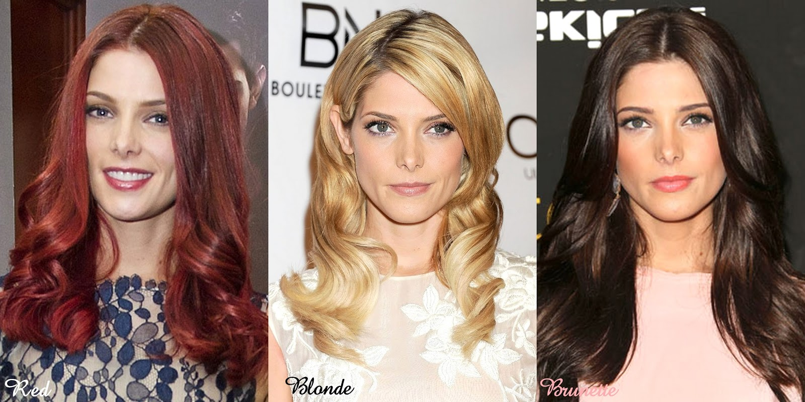 Frills and thrills red blonde brunette twilight alumni ashley greene dyed her hair in a synthetic shade of cherry swirl before going golden blonde but i find that her natural chocolate brown urmus Gallery