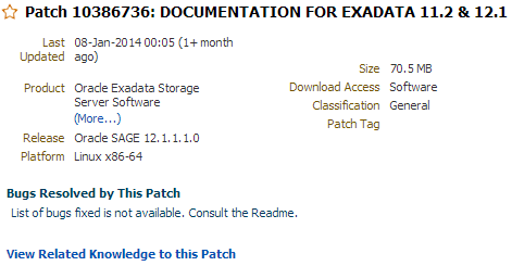 Oracle Exadata Documentation Download