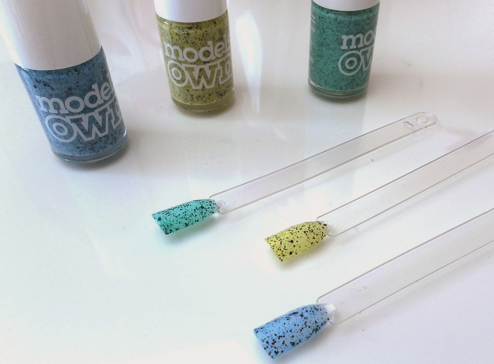 Models Own Speckled Egg Nail Polishes