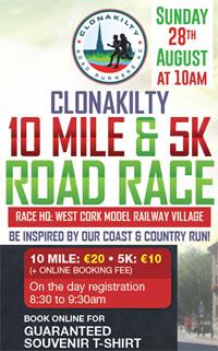 10 mile & 5k in Clonakilty...Sun 28th Aug 2016
