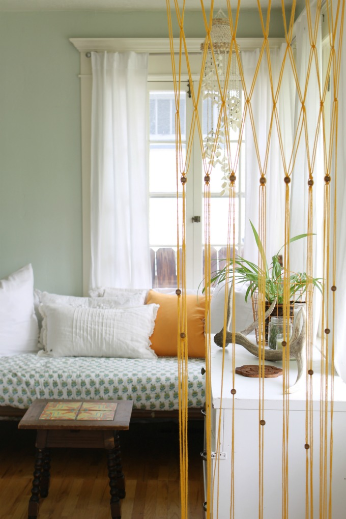 Easy Macrame Bead Curtain Using Yarn The Wicker House
