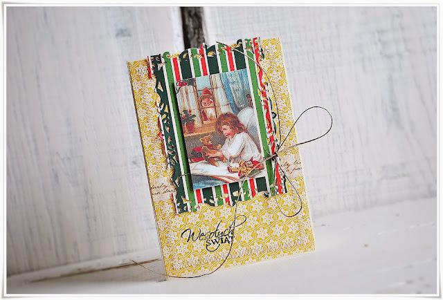 kartką świąteczna boże narodzenie scrapbooking