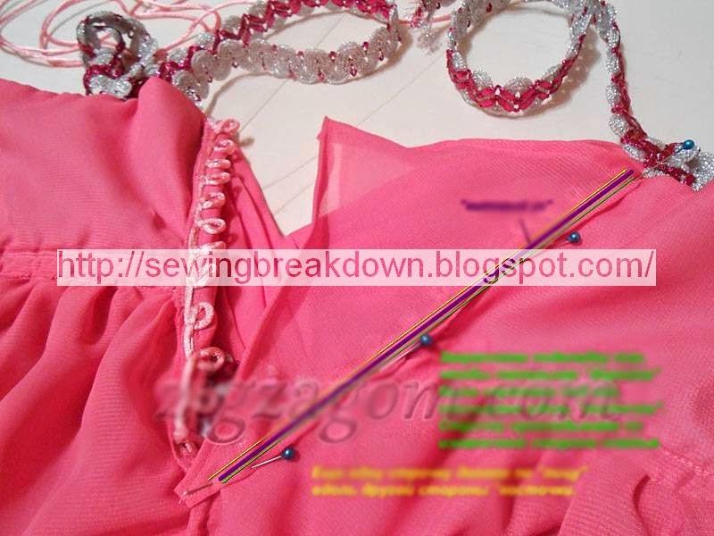 خطوات خياطة فستان سهرة