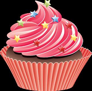 cupcake decorado con estrellas