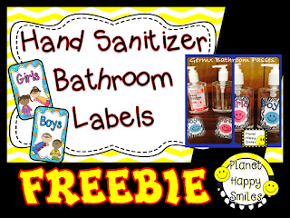 Hand Sanitizer Labels Freebie