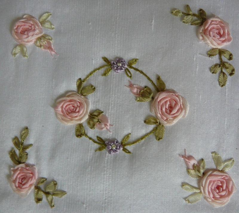 Silk Ribbon Embroidery FREE SRE DESIGN - Spider Web Combinations
