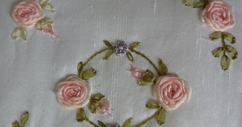 Silk ribbon embroidery free sre design spider web