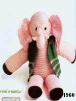 patron gratis elefante amigurumi de punto, free knit amigurumi pattern elephant