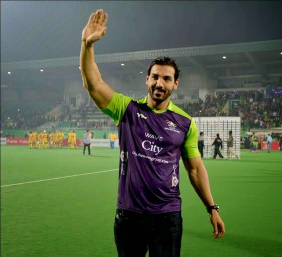 HHIL: Bollywood actor John Abraham during match