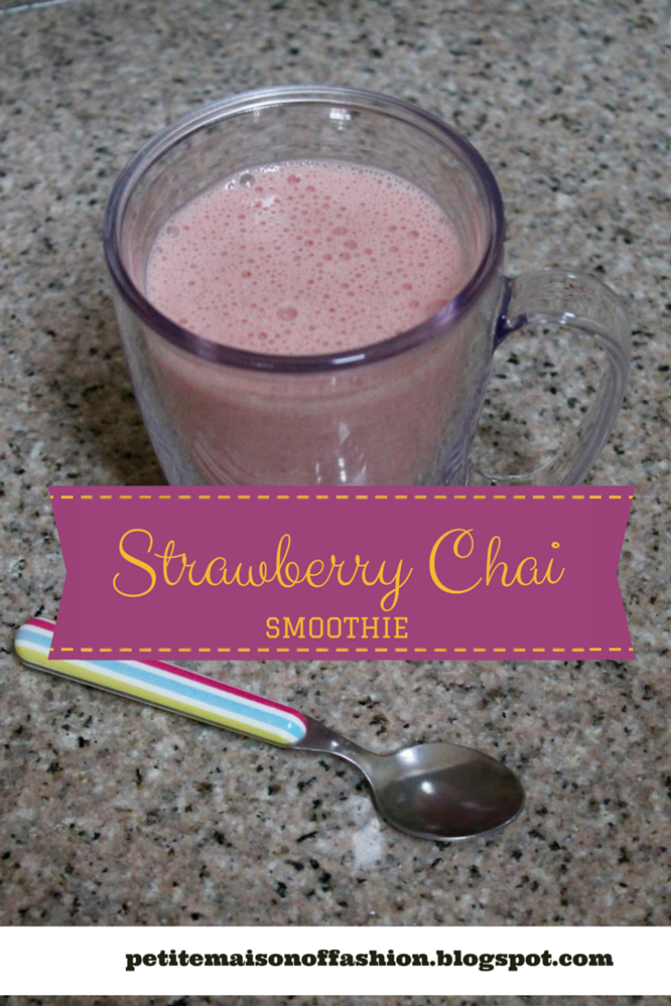 Morining Strawberry Chai Latte Smoothie