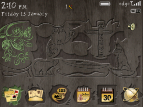 Theme Keren BlackBerry Jaman Purba