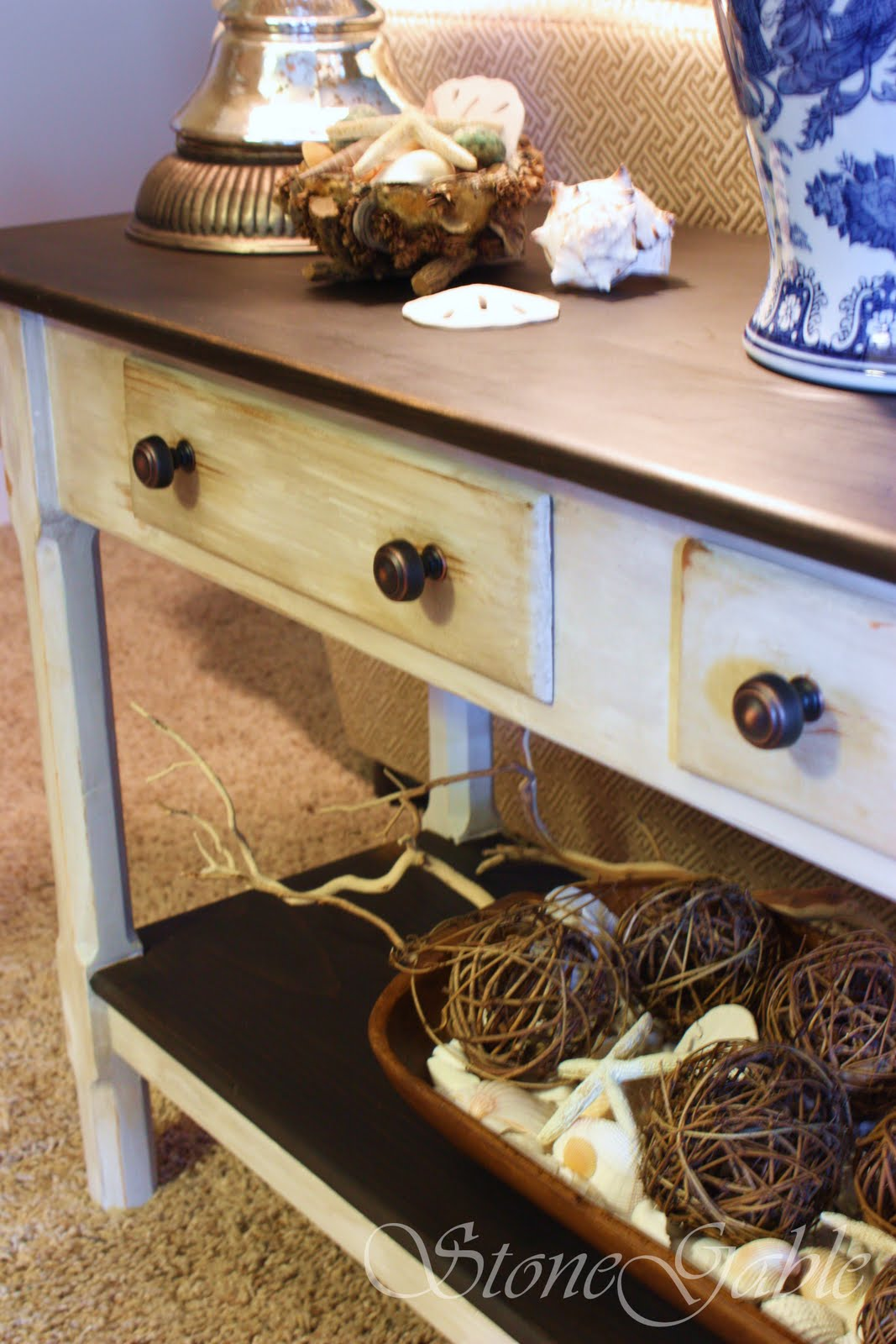 Painted sofa table stonegable geotapseo Image collections