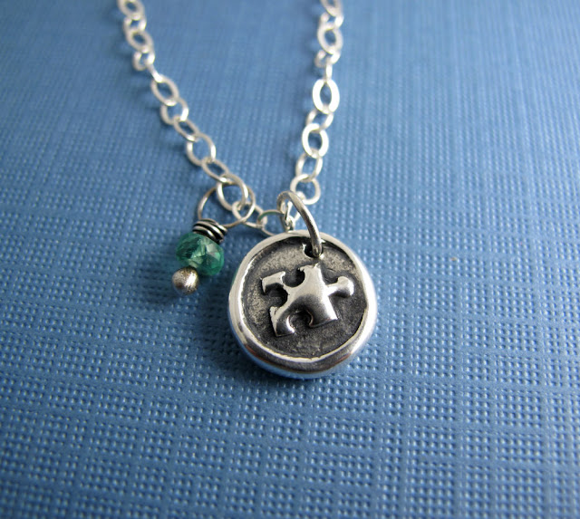 autism awareness sterling silver charm necklace beth hemmila hint jewelry