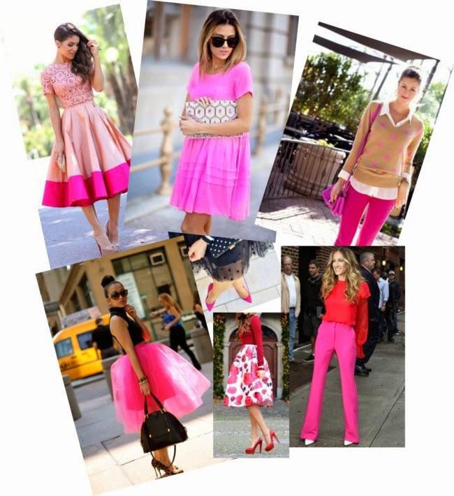 roupas e acessórios da moda, blog de moda, dicas de moda,saia rosa, calça rosa, dress pink, sapatos femininos rosa