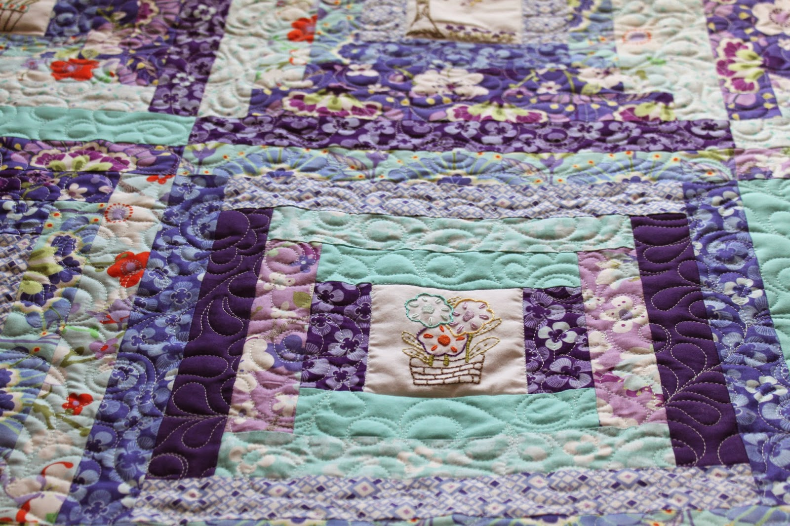 Stitch by Stitch: Clover and Violet quilt