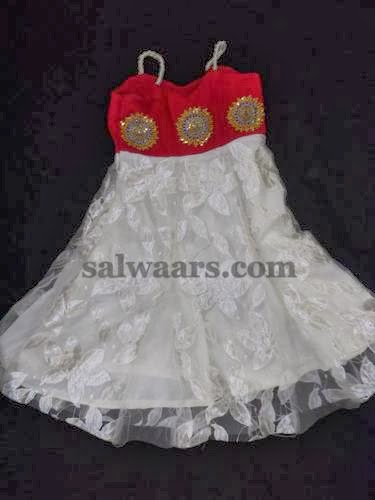 Stylish Brasso Frock in White