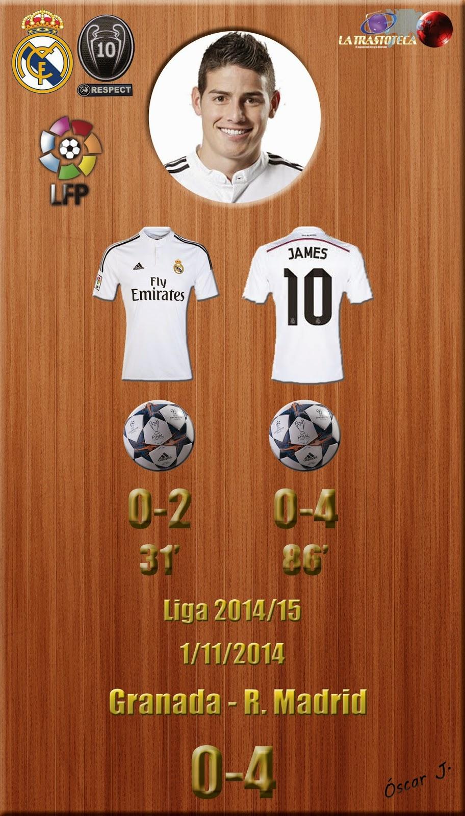 James - (doblete) - Granada 0-4 Real Madrid - Liga 2014/15 - (1/11/2014)