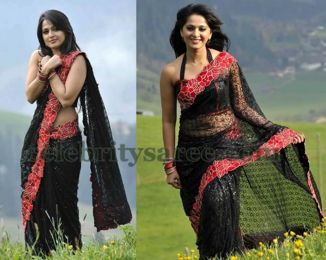 Anushka Shetty Embroidery Saree