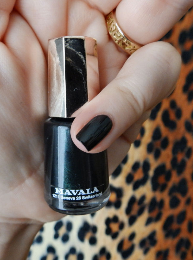 uk style and fashion blog mavala techni-color collection swatches Black Night