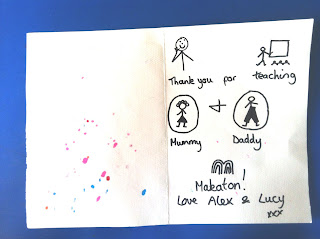Thank you letter written in Makaton symbols