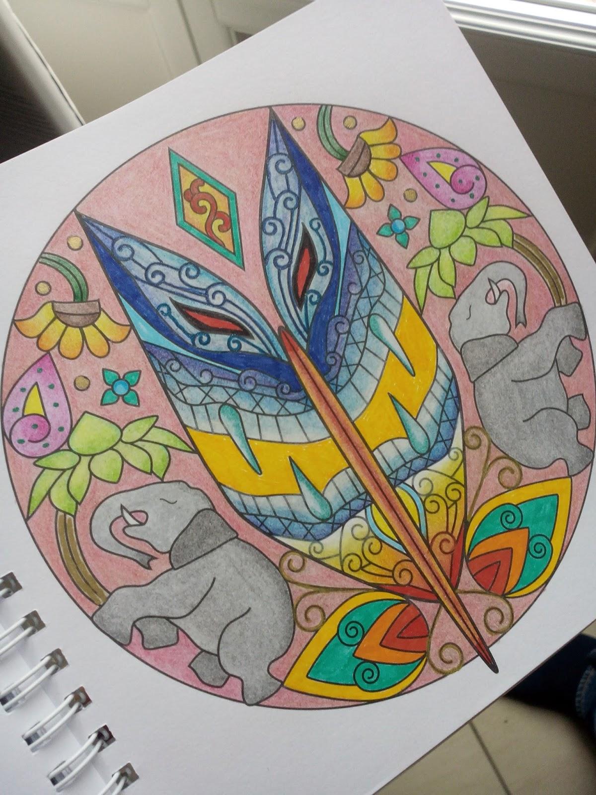 Sous le feuillage Chronique coloriage anti stress Masques mandalas  colorier ♥ ♥ ♥