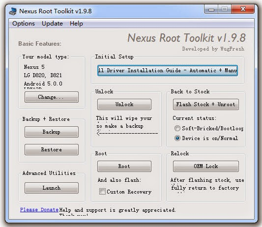 How To Root Android Lollipop, Marshmallow Google Nexus Device (Nexus Root Toolkit)