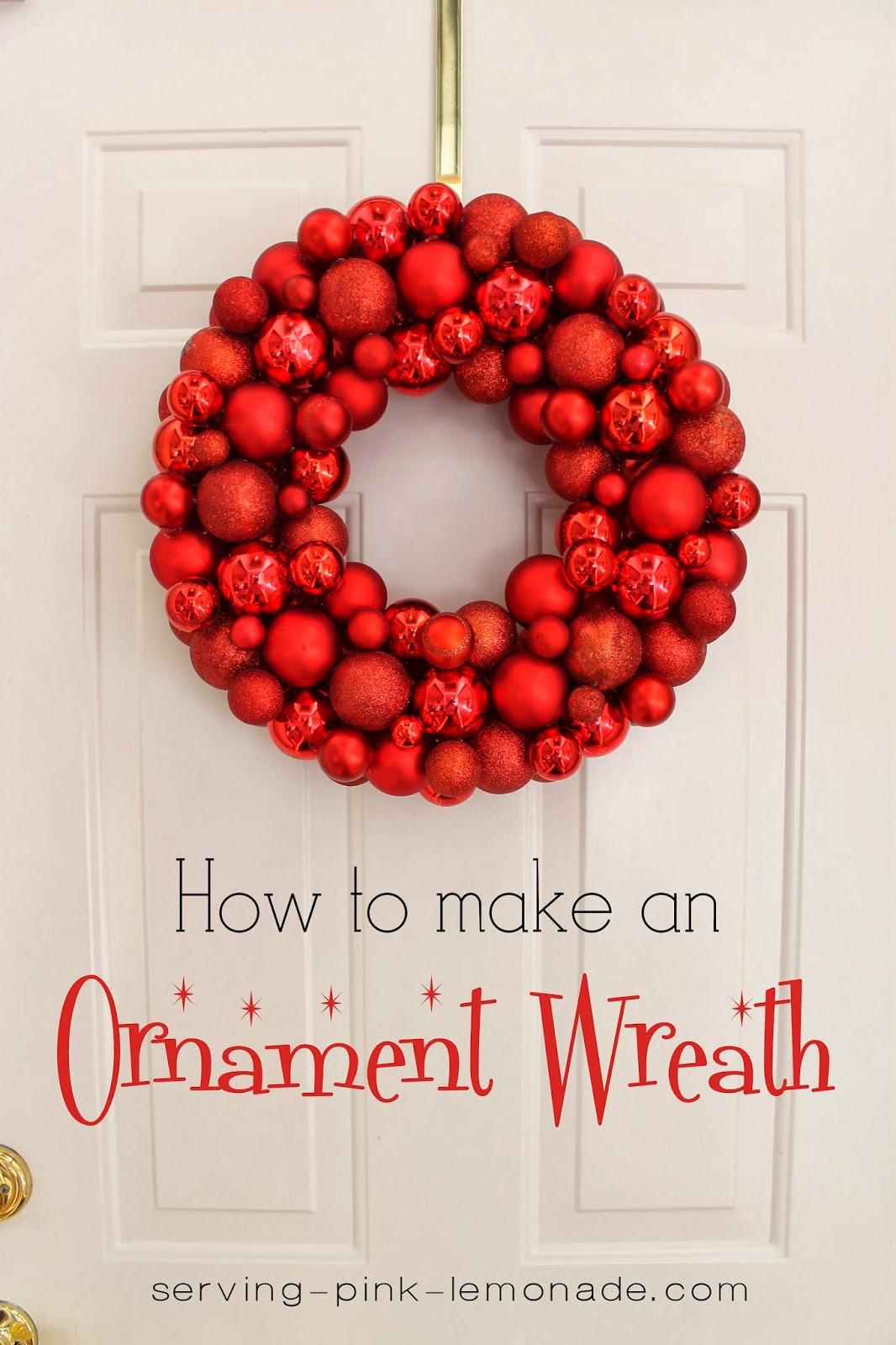 Serving pink lemonade christmas ornament wreath christmas ornament wreath solutioingenieria Gallery