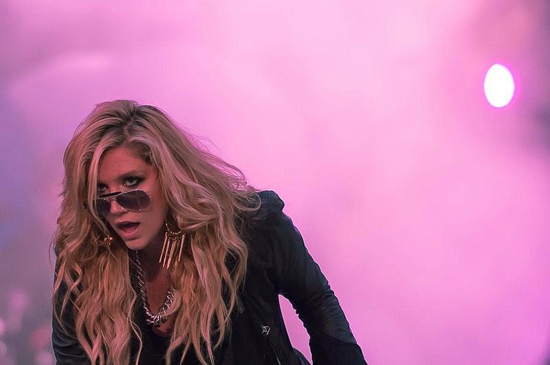 Kesha beim Soundcheck