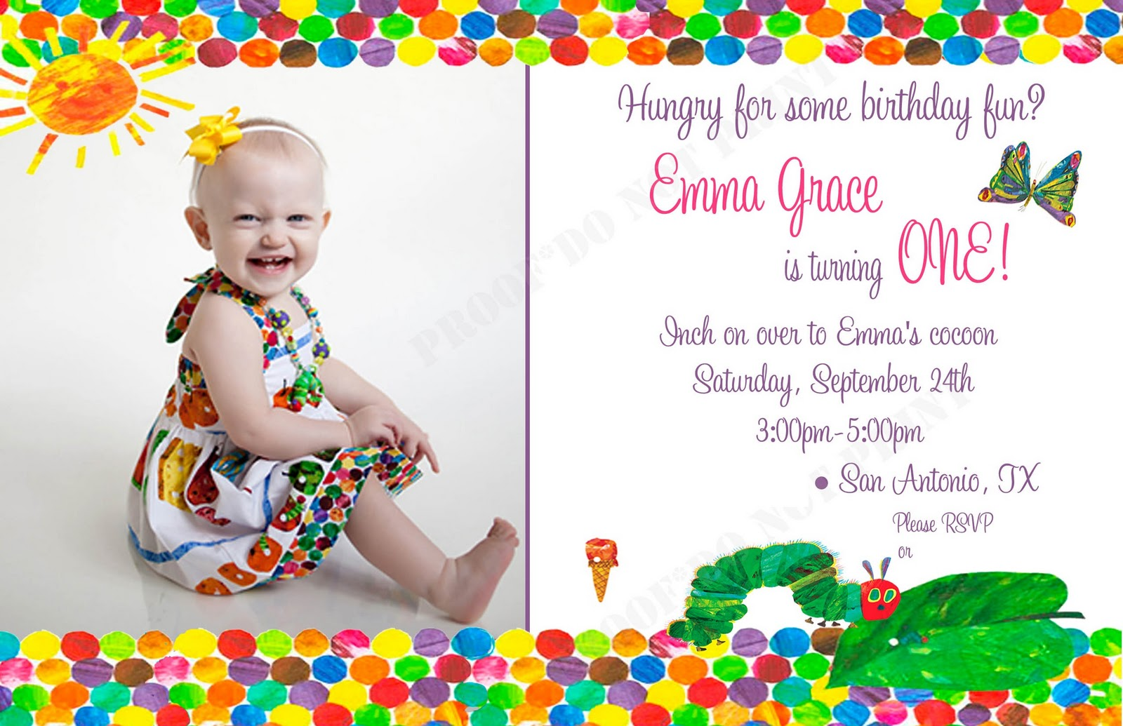 The Sweatman Family: Emma\'s 1st Very Hungry Caterpillar Party!