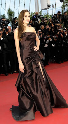 Angelina Jolie at the premiere of Brad Pitt's film The Tree of Life at the 2011 Cannes Film Festival