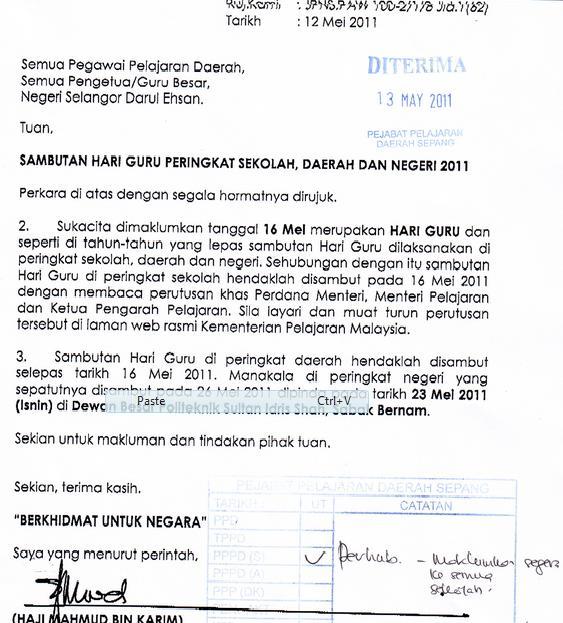 Dapatkan teks ucapan Menteri Pelajara dan Ketua Pengarah Pelajaran