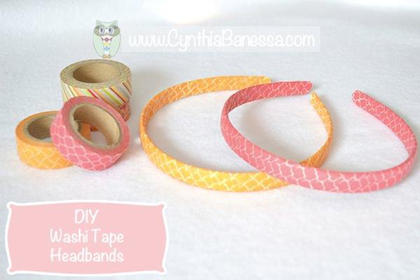 Pin from original source at http://cynthiabanessa.com/washi-tape-headbands/2014/
